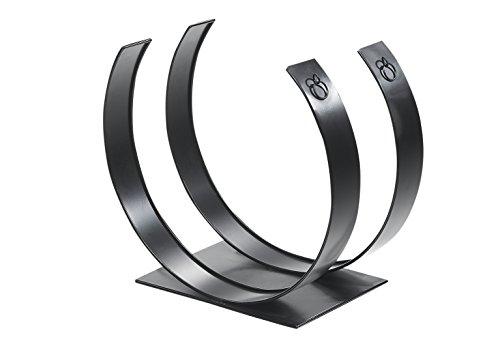 Kobolo Kaminholzständer Feuerholzlege Metall schwarz lackiert