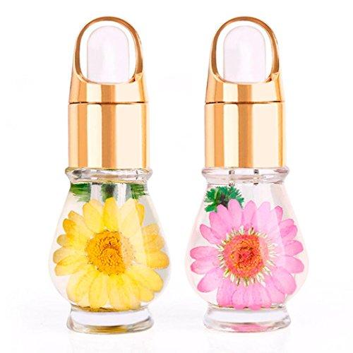 Gel de uñas BBsmile 1 PCS Mix Sabor Flores secas Aceite de la cutícula Pluma Nail Art Care Tratamiento Manicura