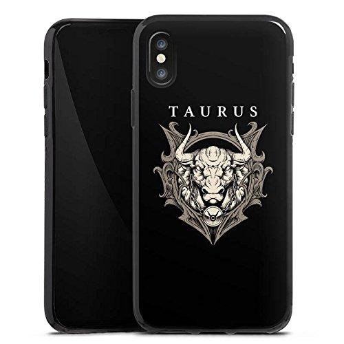 Apple iPhone X Silikon Hülle Case Schutzhülle Stier Sternzeichen Astrologie Silikon Case schwarz