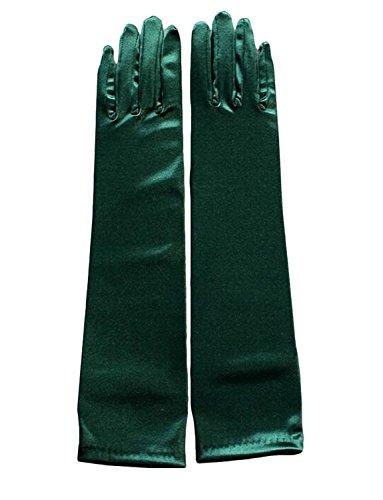 RuiyuhongE Multi Farbe Satin Brauthandschuhe Ellbogen Länge Hochzeit Handschuhe (Dunkel (Lange Handschuhe Grüne)