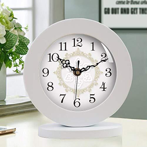 CWLLWC Reloj, Madera Maciza, Sala de Estar, Reloj de Mesa, Dormitorio Retro,...