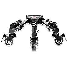 Neewer Fotografía Trípode profesional para trabajo pesado Dolly con ruedas de goma y soportes de pierna ajustable para Canon Nikon Cámaras Sony DSLR Videocámara Videojuegos Vídeo