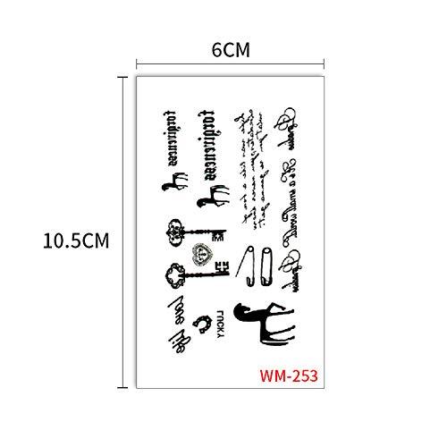 Clng-tool (Einweg Tattoo Sticker Wundbogen Aquarell Tattoo Sticker 3Pcs-13 60x105mm)