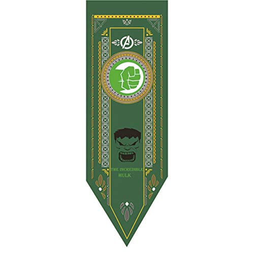 Monifuon Marvel Legends Avengers Banner, Avengers Party Decoration Flag Thor Thanos Black Panther, 48 * 150 cm(Hulk)