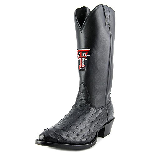 Nocona Texas Tech Red Raiders Ostrich Cuir Santiags Black-Red