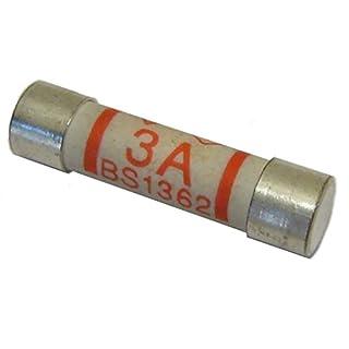 Bulk Hardware BH02288 BS1362 Fuse Cartridge, 3 amp - Pack of 12