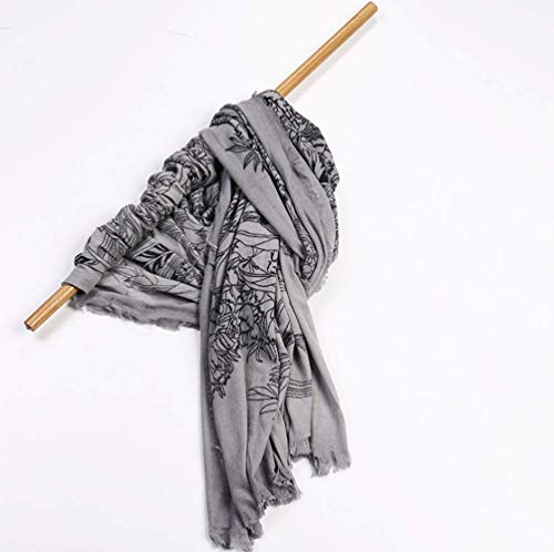 CN Damen Herbst Und Winter Warmes Hemd Mode Damen Wrap Comfort Print Jacke Decke Großen Schal,B,Einheitsgröße Print Wrap Jacke