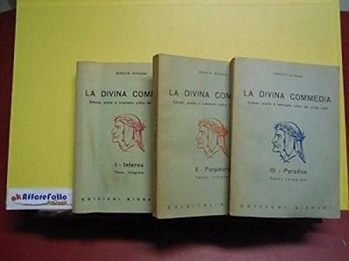 ART 9.327 N. 3 VOLUMI LA DIVINA COMMEDIA DI DANTE ALIGHIERI DI E BIGNAMI VOL 1 2