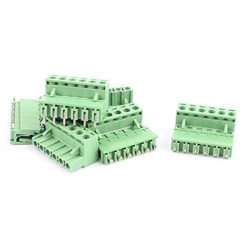 ZCHXD 6 Pairs 5.08mm Pitch 6 Pin M/F PCB Pluggable Terminal Block Connector -