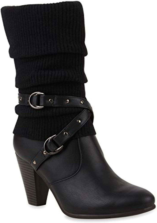 Stiefelparadies Damen Klassische Stiefel Gefüttert Flandell