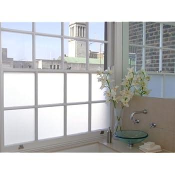 White Privacy Frosted Glass Filmwindow Film 2m X 1m Amazon