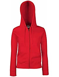 Fruit of the Loom Ladies-Fit Hooded Sweat Full Zip Jacket XS,S,M,L,XL,XXL