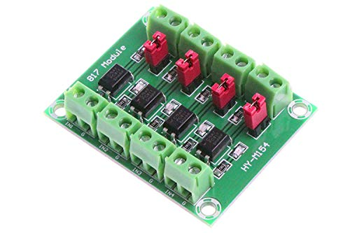 DollaTek PC817 4-Kanal Optokoppler Isolation Board Spannungswandler Adapter Modul 3,6-30 V Treiber Photoelektrisches Isolierte Modul -