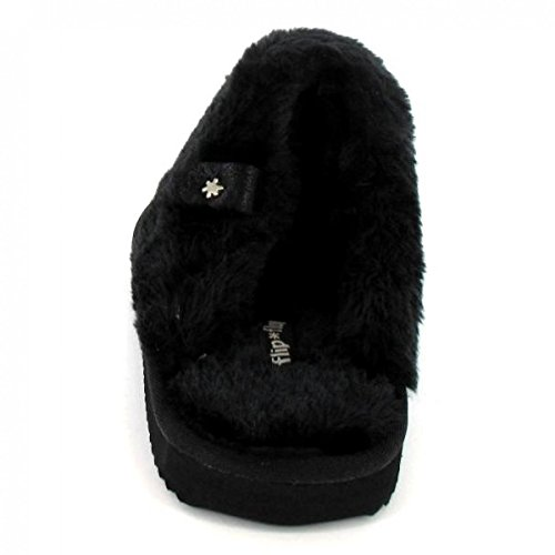 Flip * Flop Ladies Cuddleglitter Slippers Nero (nero)