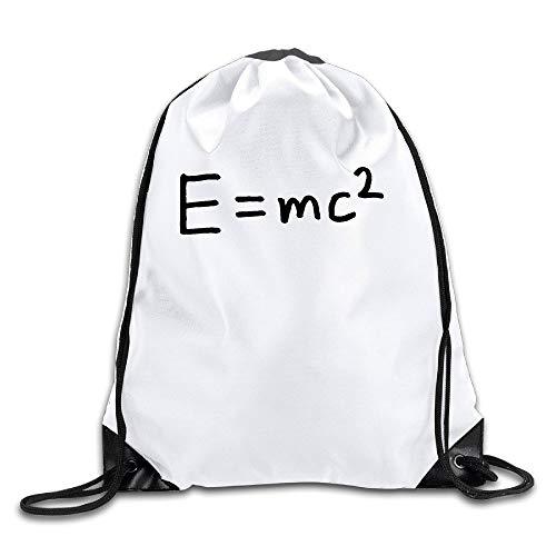 HLKPE Unisex E=mc Squared Einstein Math Sports Drawstring Backpack Bag Cool