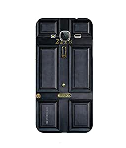 iSweven printed samj3_3138 Sherlock Door Design Multicolored Matte finish Back case cover for Samsung Galaxy J3 (2016 Edition)