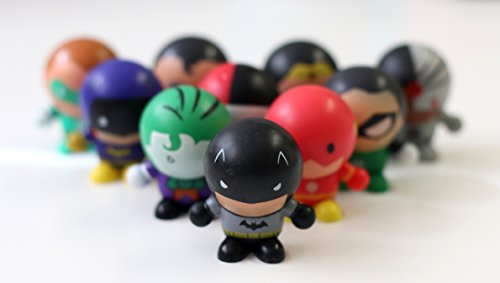 Party Bag Fillers- DC Friends Bouncy Ball Heads- Pack Of Ten- Awesome Party Fun Toys or Stocking Fillers