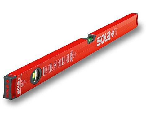 Sola BIG X Rohrprofil-Wasserwaage 80 cm - Messwerkzeug zum messen markieren - Blendfreies Arbeiten und leichtes Ablesen der Messergebnisse durch reflexionsfreie Lackierung