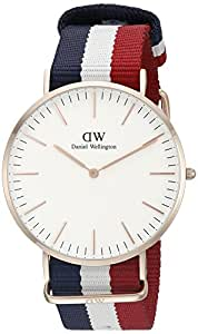 Daniel Wellington Herren-Armbanduhr XL Cambridge Analog Quarz Nylon DW00100003