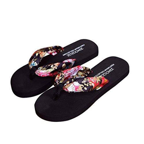 Reasoncool Le donne sandali di estate Slipper Scarpe Indoor Outdoor Flip-flop Beach Nero