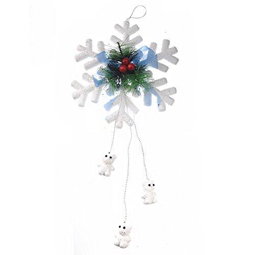 iße Schaum-Schneeflocke-Weihnachtsdekoration ()