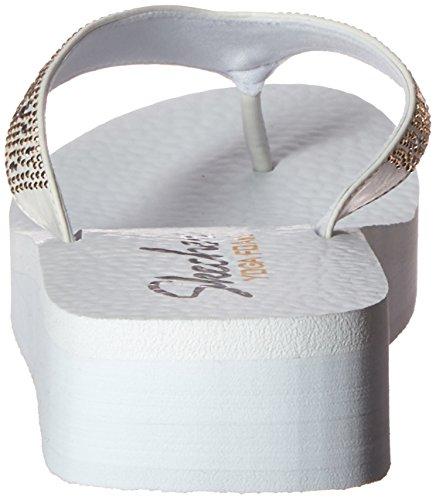 Skechers - Vinyasasun Ray, Sandali infradito Donna Bianco (Bianco (Wht))