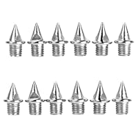 Footful 12Pcs of Replacement Sports Track Running Shoes Spikes Pins 8MM Short (7mm) Silver