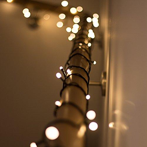 SnowEra 600er LED Galaxy Lichterkette / Weihnachtslichterkette für innen & außen mit Timer und Dimmfunktion – Lichtfarbe: warm weiß – Form: Cluster Lichterkette
