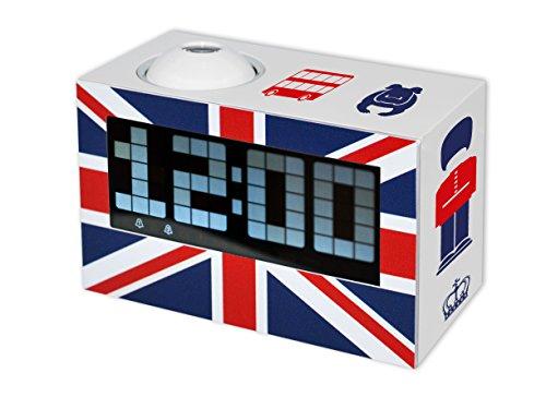 Preisvergleich Produktbild Teknofun 811256 - UK Digitaler Radio-Wecker mit Projektor, weiß