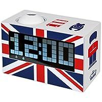 Unbekannt Teknofun 811256–UK de Radio Digital Despertador con proyector, Color Blanco