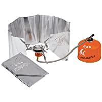 Spirituskochern Faltbarer Windschutzscheibe : zur Verwendung Backpacking /Öfen Campingkochern EXQUILEG Aluminium Windschutz Butan-Gaskochern
