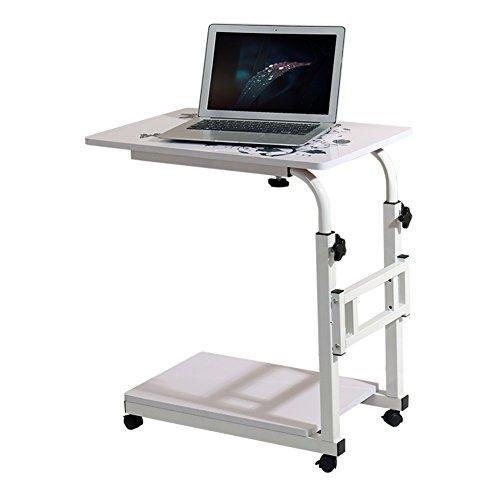 NYDZ Support de table d'ordinateur portable, plateau de bureau portatif Plateau de table pour canapé de lit, table d'appoint Poste de travail réglable en hauteur mobile poste de travail avec poulie, n