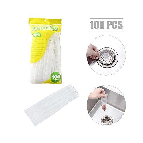 pawaca 100PCS Küche Spüle Sieb, Bodenablauf Sieb Badezimmer WC-Ablaufbogen Haar Sieb, für jede Küche Spüle in den Vereinigten Staaten