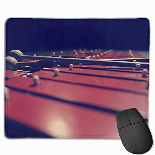 keiwiornb Non-Slip Mouse Pad Rectangle Rubber Mousepad Xylophone Print Gaming Mouse Pad