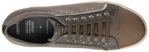 Geox J Kalispera J, Sneakers Basses Mixte Adulte Beige (Dk Beige)