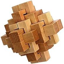 Vococal-Abrir el Cubo de Rubik chinos / Puzzle Juguetes de madera / Cerradura de Kong Ming / Juguetes educativos de primera infancia para Niños
