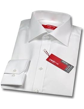 Eterna Hemd | Modern Fit | Kent-Kragen | Größe 41 | Weiß Unifarben | Langarm 65cm