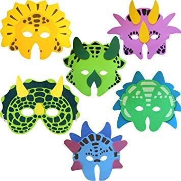 (Dinosaurier-Schaum-Maske (Packung mit 6))