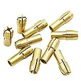 Sourcingmap - Punte per mandrini in ottone, 0,5-3,2 mm, accessori per utensili rotanti Dremel, codolo 4,3 mm, 10 pezzi