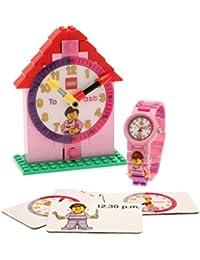 LEGO Temps fille des enseignants - 9005039 - Montre Fille - Quartz Analogique - Bracelet Plastique Rose