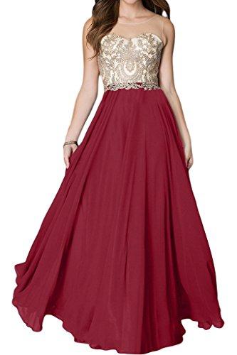 Applicazione Ivydressing da donna in acciaio inox di alta qualità con una punta rotonda colletto A-linea lunga Bete dell'abito vestito da sera festa rosso vivo