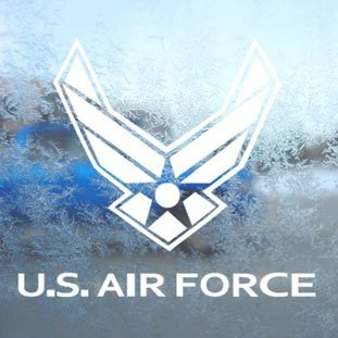 Aufkleber / Autoaufkleber / Sticker / Decal Us Air Force Usaf White Decal Car Window Laptop White Sticker (Us Air Force)