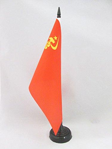 AZ FLAG TISCHFLAGGE SOWJETUNION UDSSR MIT Hand 21x14cm - Kommunismus TISCHFAHNE 14 x 21 cm - Flaggen
