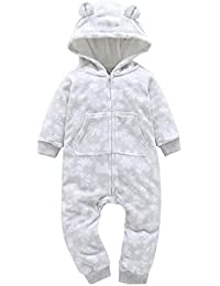 Bebe Garcon / Fille HIver Vetement Chauffant Pyjama Combinaison en Velours