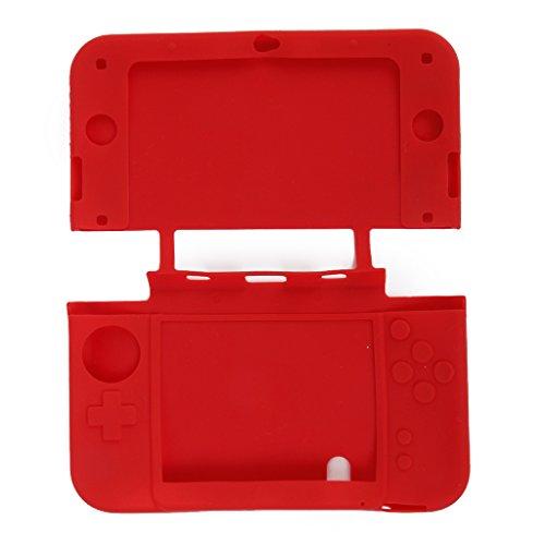 Generic Custodia in Silicone per il nuovo Nintendo 3DS LL XL rosso - Xl Silicone