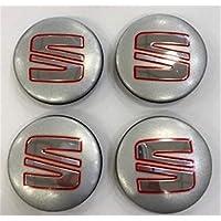yongyong218 4X 54mm Seat Silver Alloy Wheel Center HUB Caps - Fits: Ibiza Leon Toledo