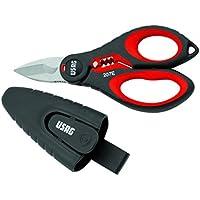 USAG 02070006 207 E Forbice Professionale per Elettricisti, Rosso/Nero