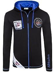 T220 - NEBULUS Hoody Full-Zip MATCH, Langarm Shirt, Hemd lang, Polo lang