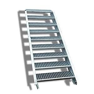 9 niveaux de niveau acier escalier largeur 60 cm tage hauteur 135 180 cm avec escalier les. Black Bedroom Furniture Sets. Home Design Ideas