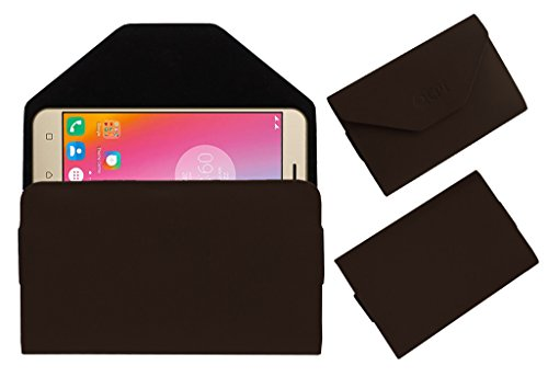 Acm Premium Flip Flap Pouch Case for Lenovo K6 Power Mobile Leather Cover Brown  available at amazon for Rs.179